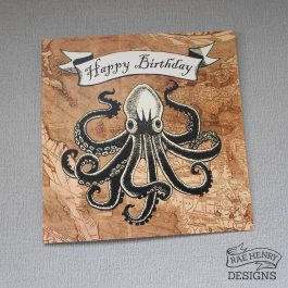 kraken birthday card