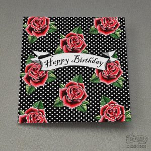 rockabilly roses card