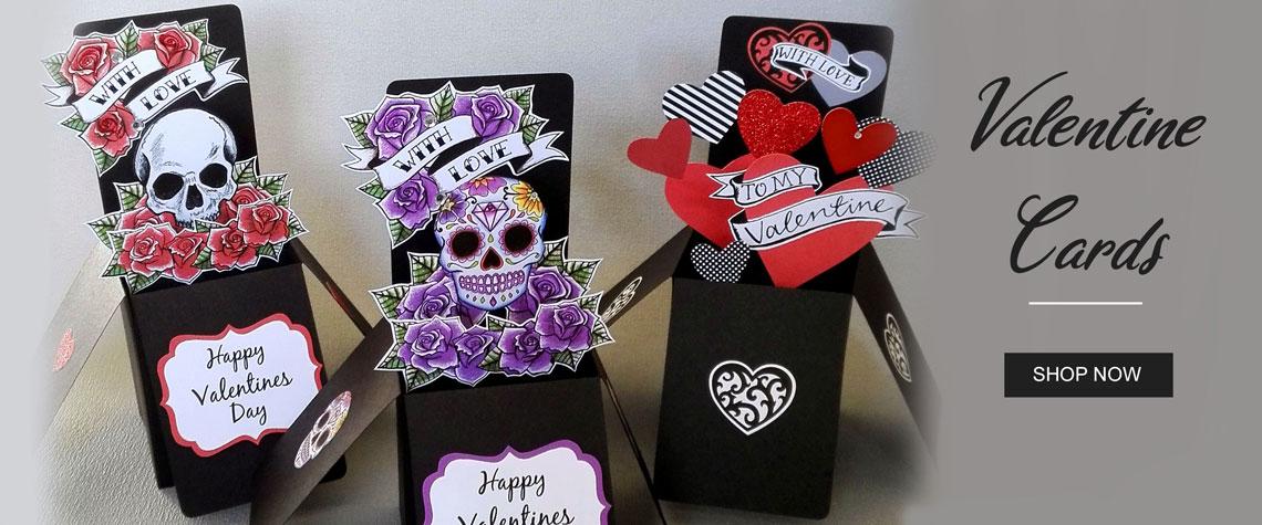 gothic valentine cards
