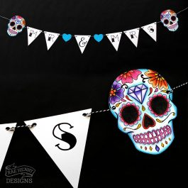 Sugar Skull Wedding Bunting