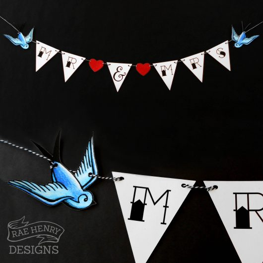 tattoo wedding bunting