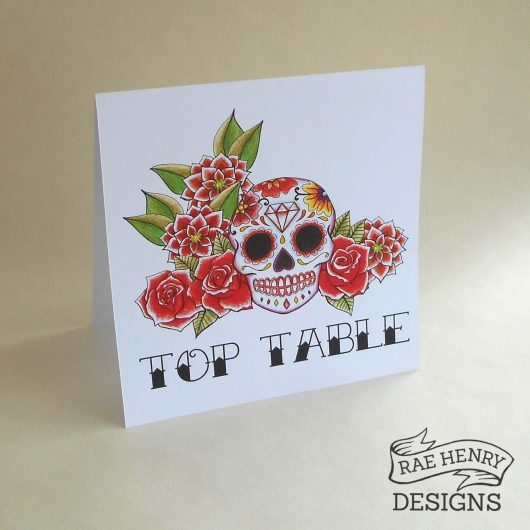sugar skull table number
