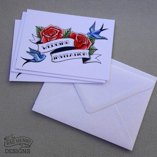 Tattoo Wedding Invitations