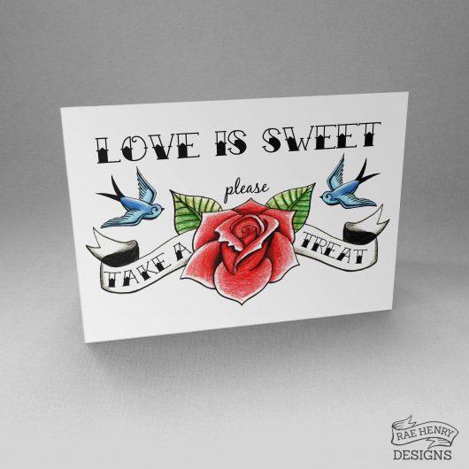 Tattoo Sweet Treats Sign