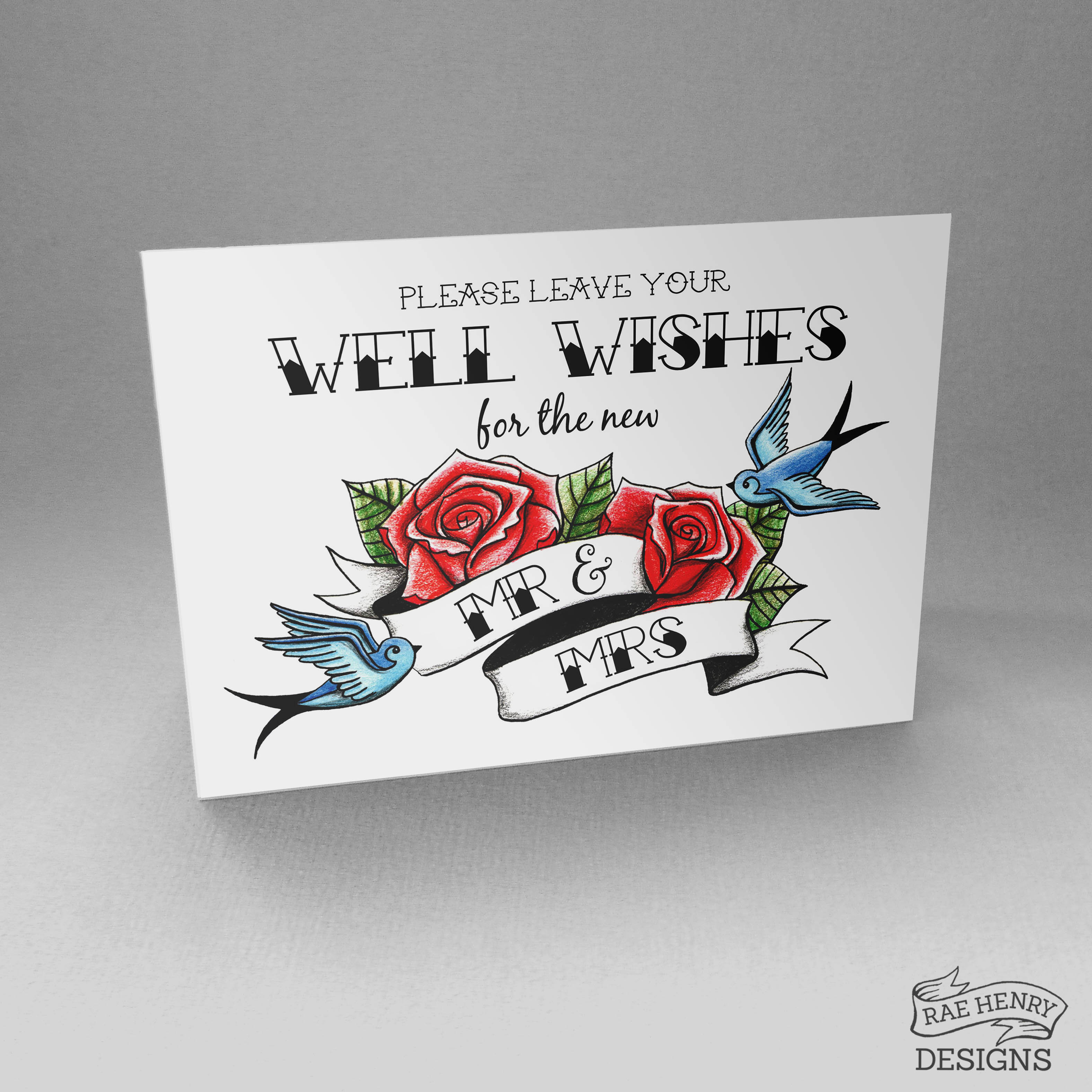 Tattoo Style Well Wishes Sign