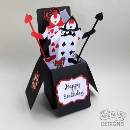 alice in wonderland birthday card
