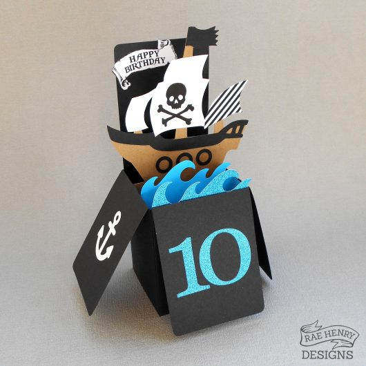 pop up pirate birthday card