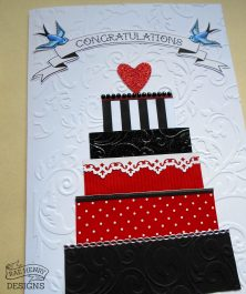 Rockabilly wedding card