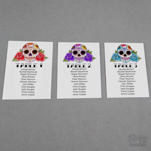 Sugar Skulls Table Plan