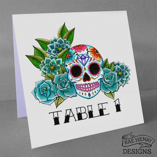 sugar skull table numbers