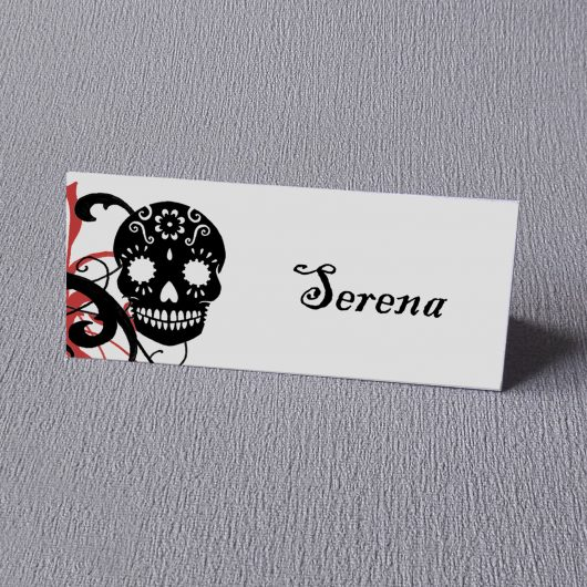 skull place card