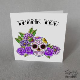 Sugar Skull Thank You Card