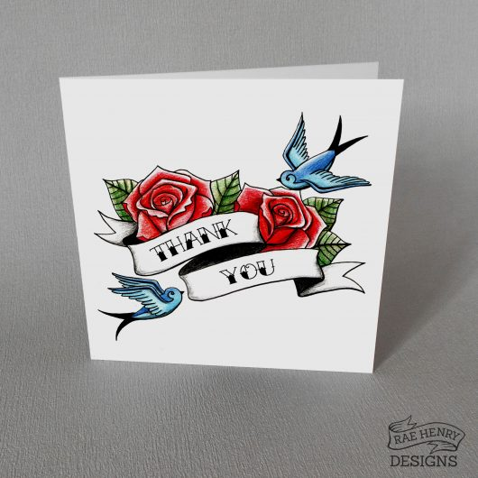 Tattoo Thank You Card