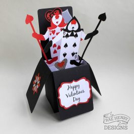 Alice in Wonderland Valentine Card