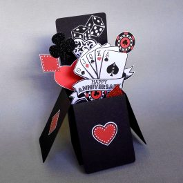 Poker Pop Up Anniversary Card