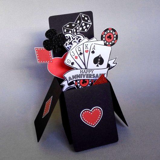 Poker Pop Up Anniversary Card
