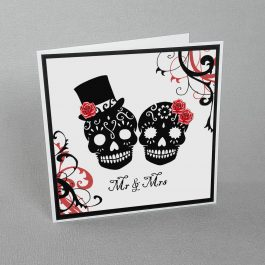 Sugar Skulls Wedding Card