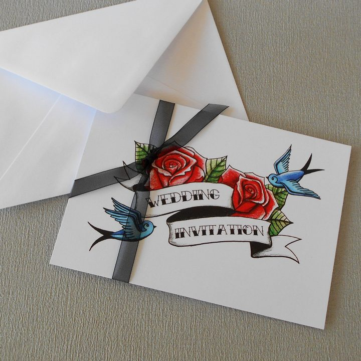 tattoo wedding invitations