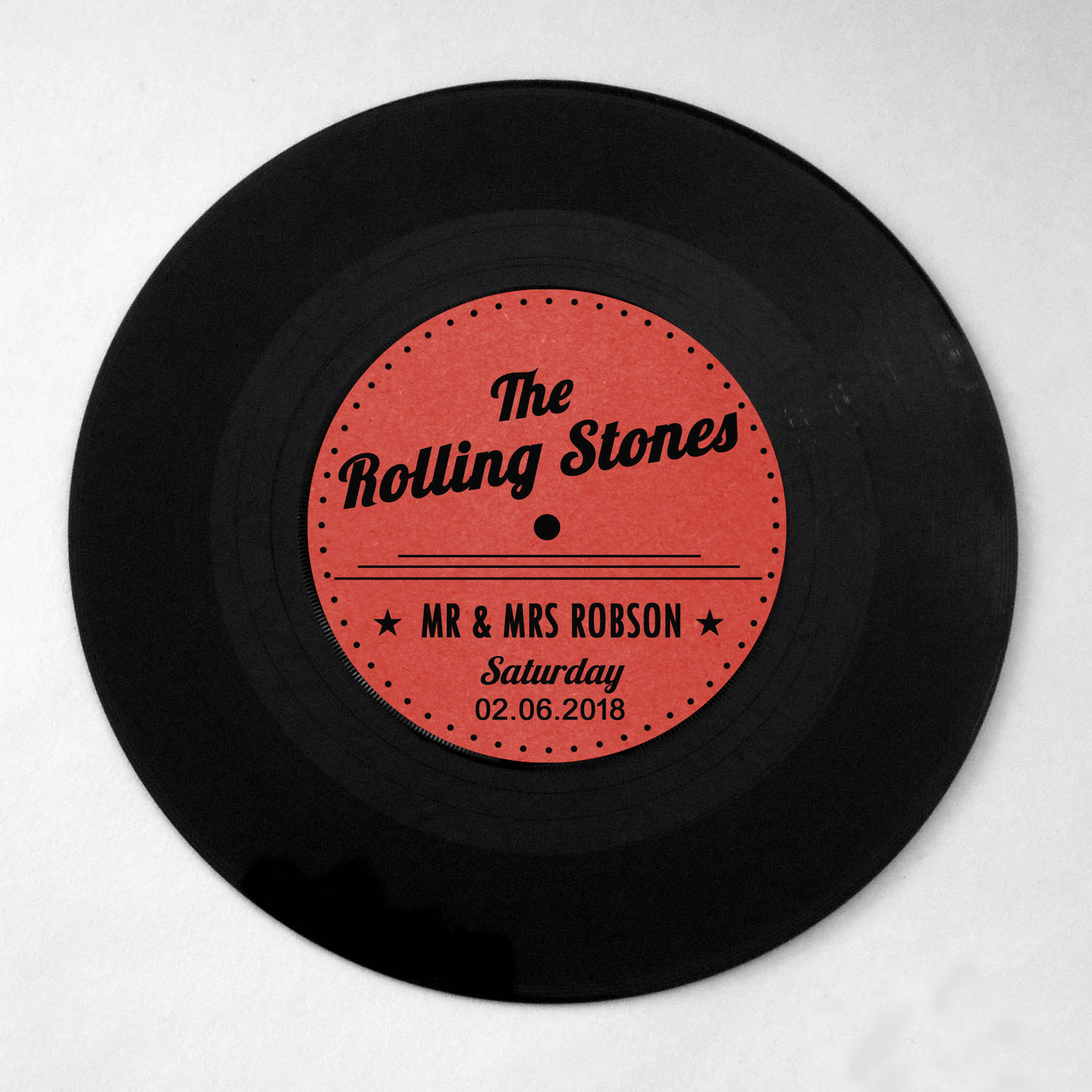 Retro Vinyl Record Table Name
