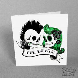 Punk Skulls Card