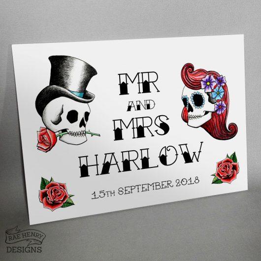 rockabilly wedding sign