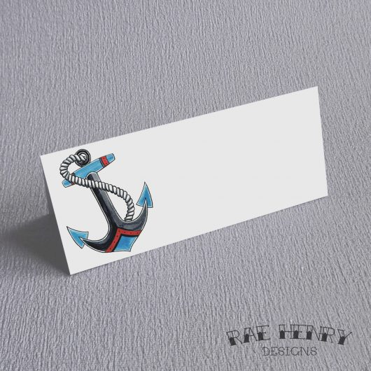 Tattoo Anchor Place Cards