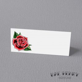 Tattoo Rose Place Cards