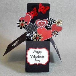 butterfly pop up valentine card