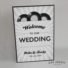 Music Themed Wedding Welcome Sign
