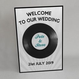 Music Record wedding welcome sign