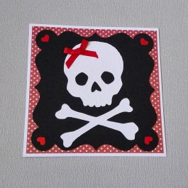 Rockabilly Skull Card