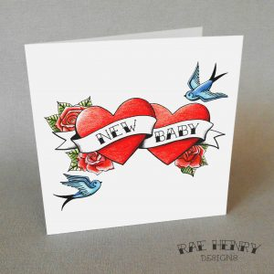 tattoo new baby card