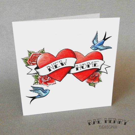 Tattoo New Home Card