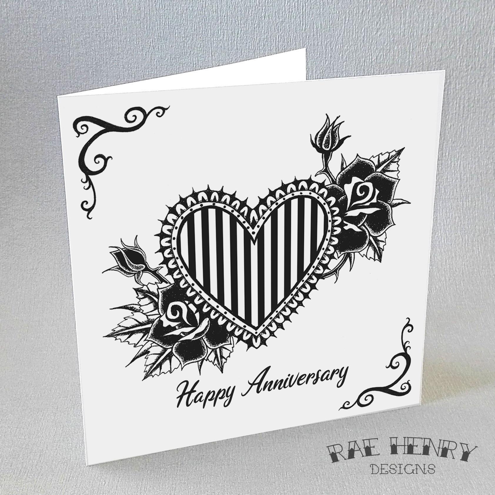 Gothic Anniversary Card