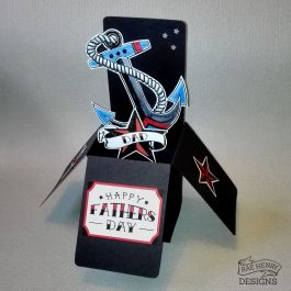 Tattoo Anchor Fathers Day Card