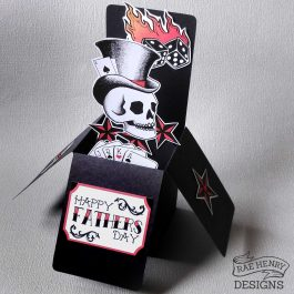 Tattoo Skull Fathers Day Card