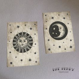 Sun and Moon Art Print Set