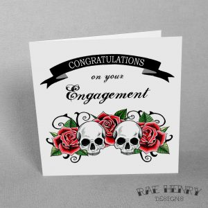 skull engagement card