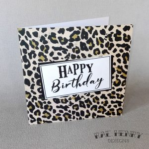 Leopard Print Birthday Card