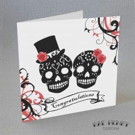 sugar skulls congratulations card