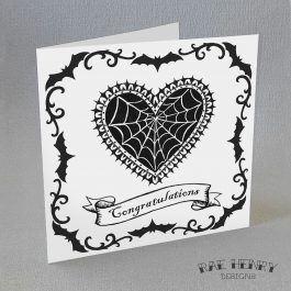 gothic congratulations card